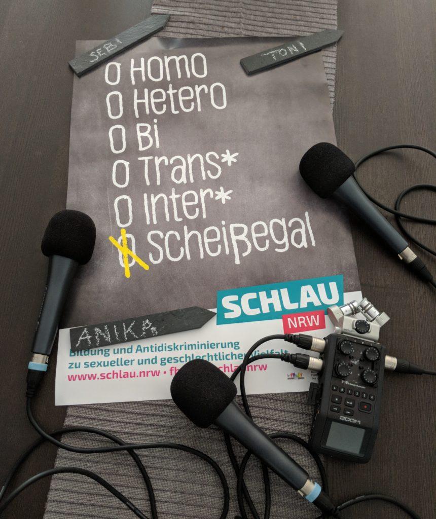 SCHLAU Bonn Anika über ihr Coming-Out im Interview bei Ausgang Podcast die bunte Stunde